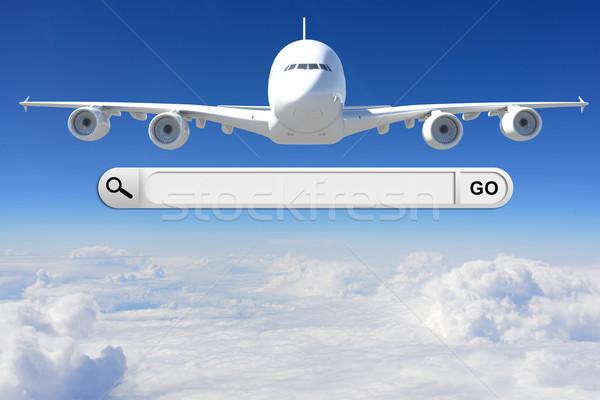 Keresés bár böngésző repülőgép égbolt üzlet Stock fotó © cherezoff