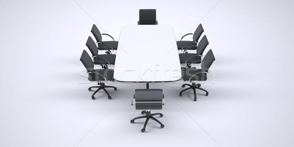 Grande conferência tabela oito preto escritório Foto stock © cherezoff