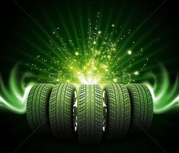 клин Новый автомобиль Колеса магия линия Сток-фото © cherezoff