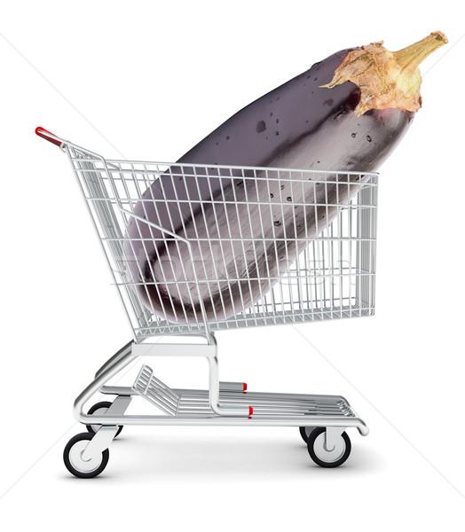 Aubergine in shopping cart Stock photo © cherezoff