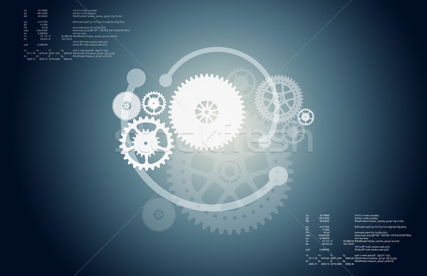 Abstract gear wheels Stock photo © cherezoff