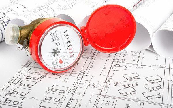 Agua plan rojo edificios arquitectura Foto stock © cherezoff