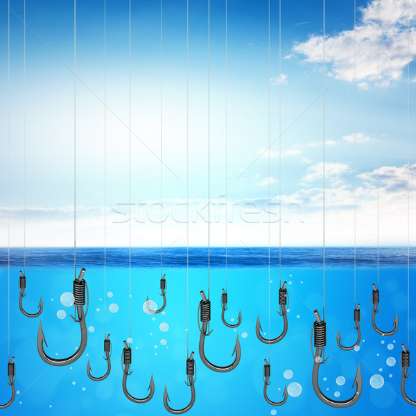 Set of fishhook Stock photo © cherezoff