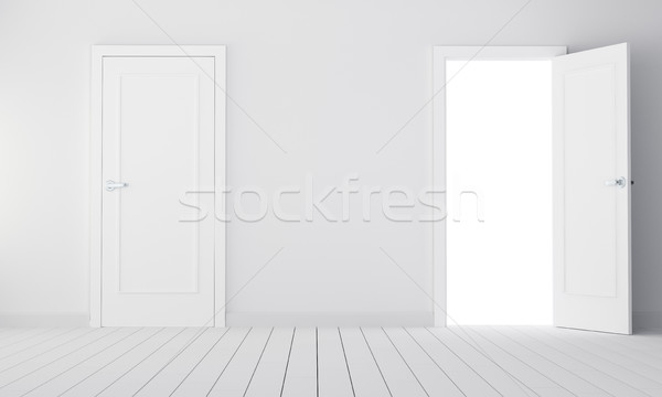 Dos puertas habitación vacía 3d elección edificio Foto stock © cherezoff