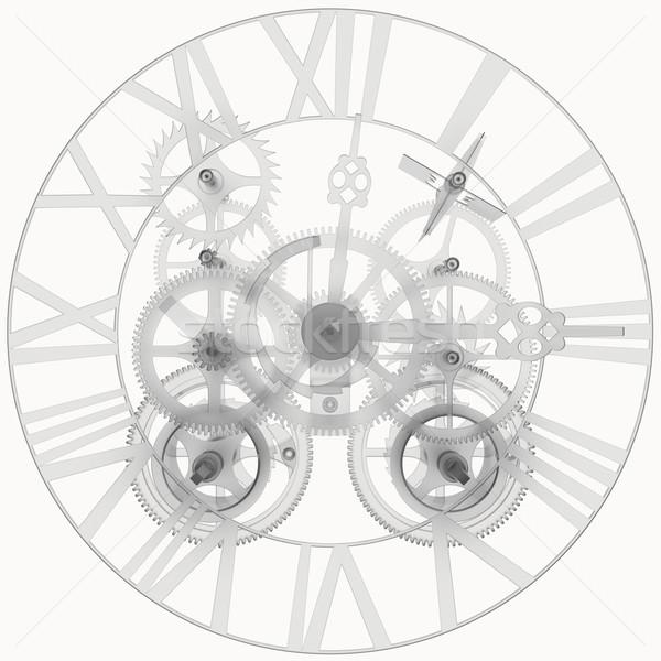 Transparent clock mechanism Stock photo © cherezoff