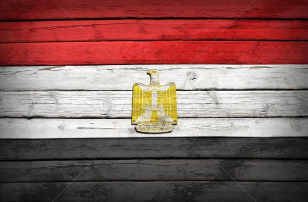 Egipcjanin banderą malowany grunge stylu Zdjęcia stock © cherezoff
