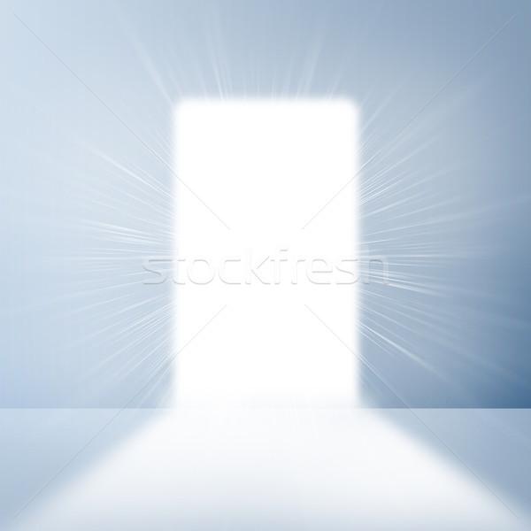Fehér fal kapualj fényes fény üzlet Stock fotó © cherezoff