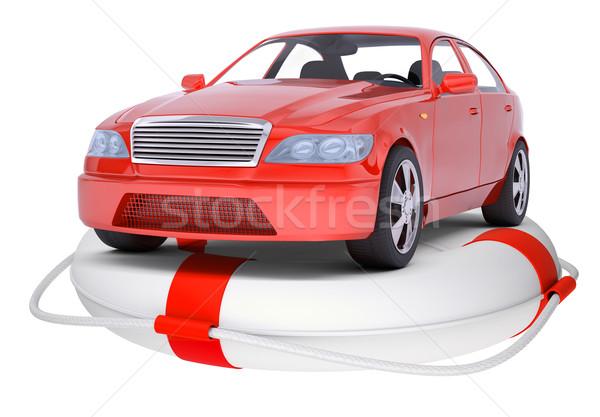 Rosso auto anello boa isolato bianco Foto d'archivio © cherezoff