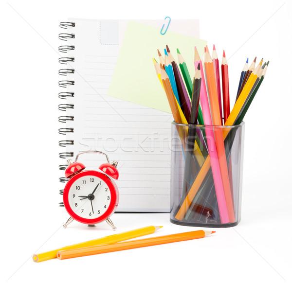 карандашом Кубок карандашей скопировать книга изолированный Сток-фото © cherezoff