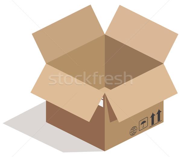 Open carton box on white Stock photo © cherezoff