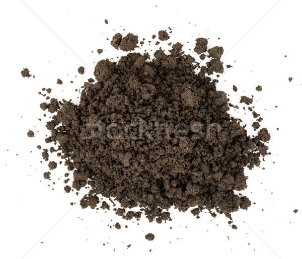 Hoop grond top geïsoleerd witte Stockfoto © cherezoff