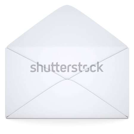 Empty paper booklet on white Stock photo © cherezoff