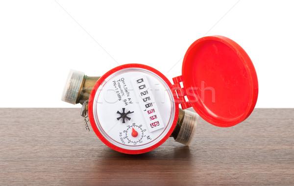 Red water meter Stock photo © cherezoff
