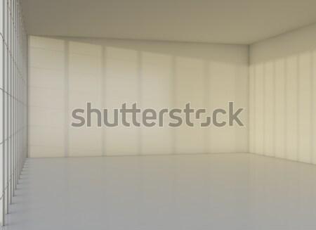 Modern empty interior office room with window Stock photo © cherezoff