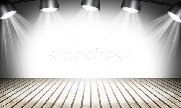 Megvilágított üres koncert színpad sugarak fény Stock fotó © cherezoff