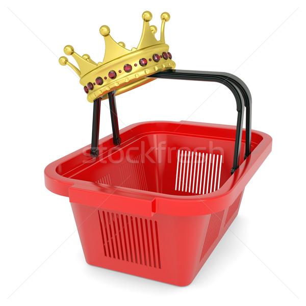 Crown on the shopping basket Stock photo © cherezoff