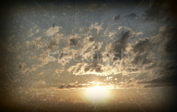 Sunset gold color. Grunge style Stock photo © cherezoff