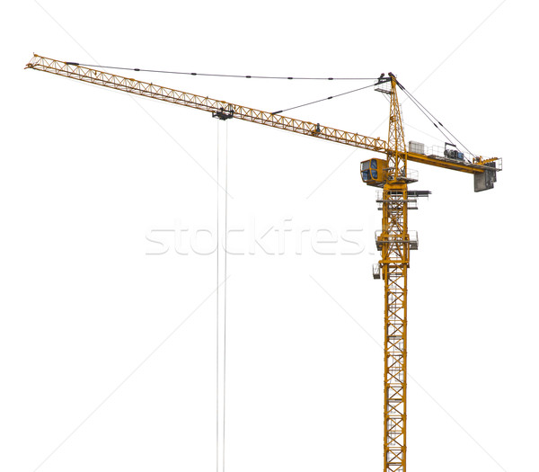 Yellow hoisting crane isolate Stock photo © cherezoff