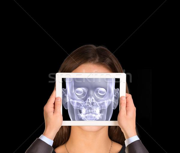 手 タブレット 画面 X線 画像 ストックフォト © cherezoff