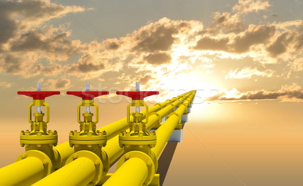 Three industrial pipes for gas transmission Stock photo © cherezoff