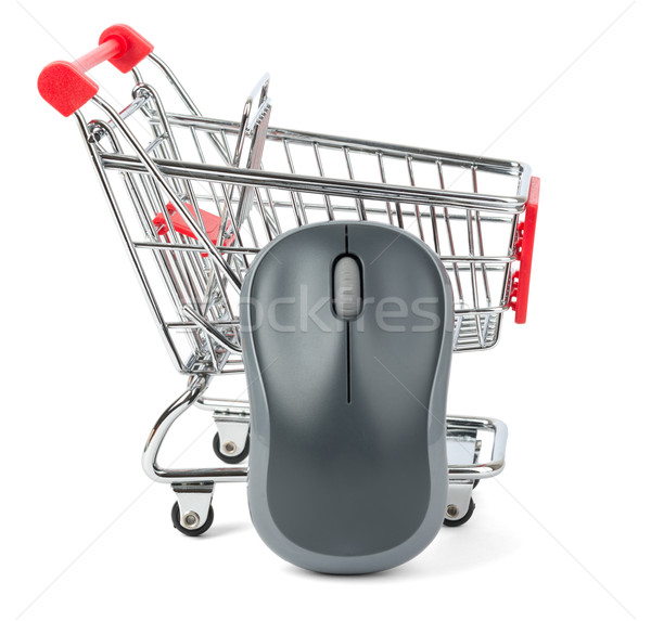 Computer mouse in red shopping cart Stock photo © cherezoff