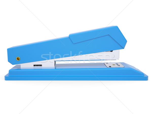 Blu piccolo cucitrice isolato bianco Foto d'archivio © cherezoff