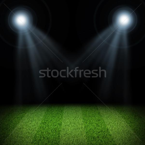 Noite futebol arena esportes luz Foto stock © cherezoff