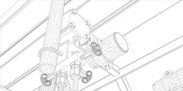 産業 白 eps 10 ストックフォト © cherezoff