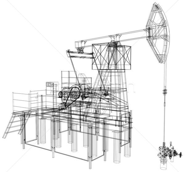 油 ポンプ ベクトル レンダリング 3D 詳しい ストックフォト © cherezoff