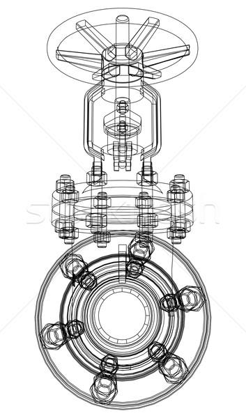 Endüstriyel valf vektör 3D ayrıntılı Stok fotoğraf © cherezoff