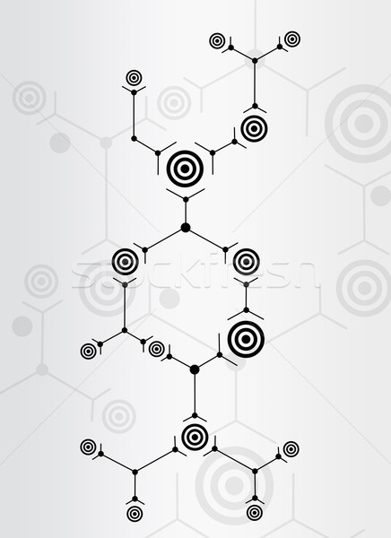 Abstract composition of black lines and circles Stock photo © cherezoff