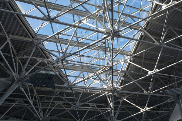 Structural steels with window, close up view Stock photo © cherezoff