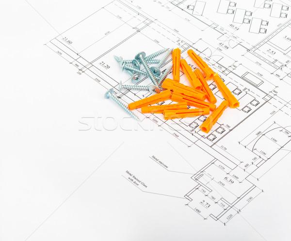 ネジ 側面図 表示 背景 金属 ストックフォト © cherezoff