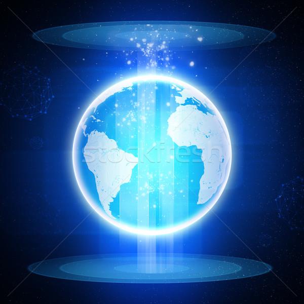 Erde abstrakten blau Stock foto © cherezoff