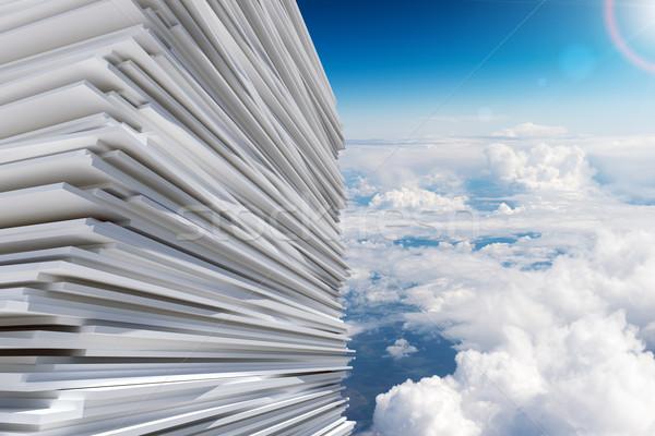 Pile of paper Stock photo © cherezoff