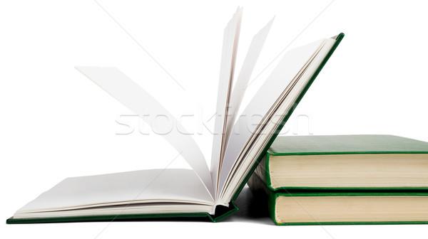Open book, hardback books Stock photo © cherezoff