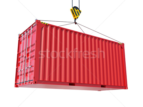 Service delivery - red cargo container Stock photo © cherezoff