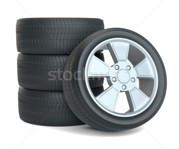 High Quality Car Wheels, Isolated Stock photo © cherezoff