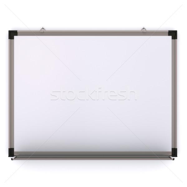 Blanche magnétique bord mur isolé 3D Photo stock © cherezoff