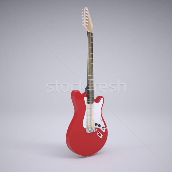 Red electric guitar Stock photo © cherezoff