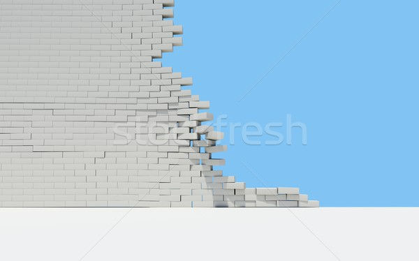 Unfinished brick wall Stock photo © cherezoff