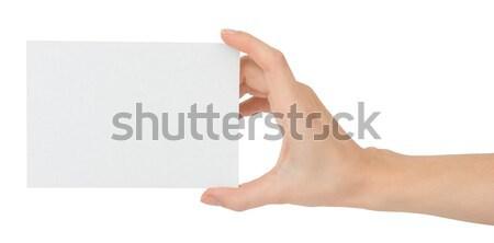 El boş kart küçük yalıtılmış beyaz Stok fotoğraf © cherezoff