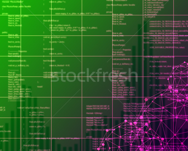 Digital green Abstract background Stock photo © cherezoff