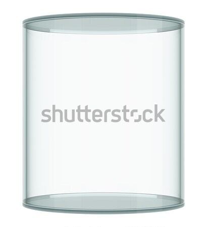 空っぽ ガラス ショーケース 白 3D レンダリング ストックフォト © cherezoff