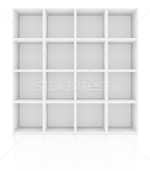 Empty shelves, blank bookcase library Stock photo © cherezoff