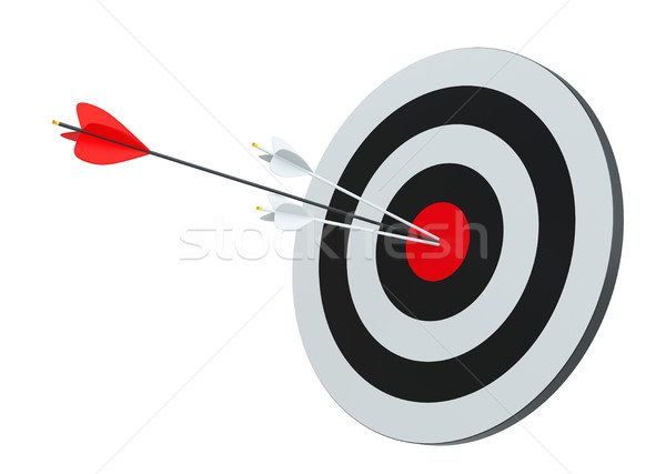 Target hit in center by arrows Stock photo © cherezoff