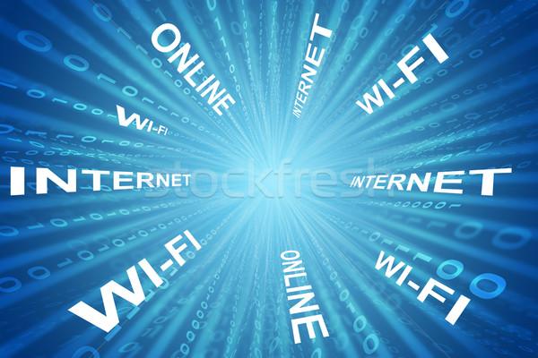 Résumé matrice affaires mots technologie bleu Photo stock © cherezoff