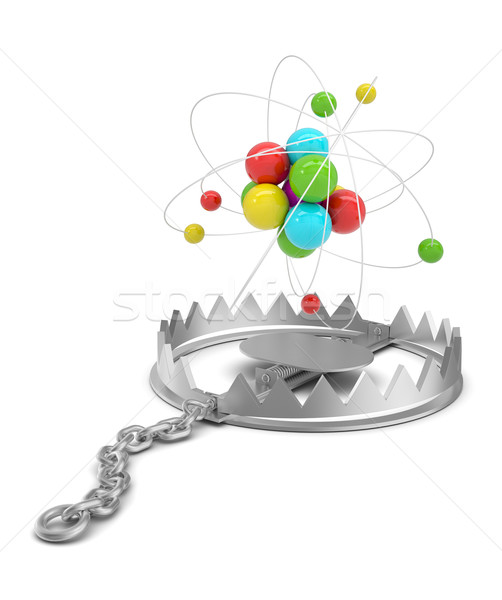 Atom structure in bear trap Stock photo © cherezoff