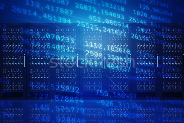 Abstract blue background with numbers Stock photo © cherezoff