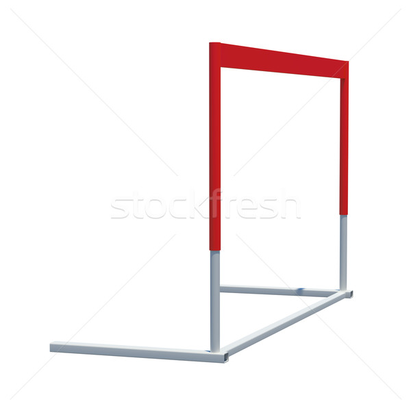 Treadmill barrier on white background Stock photo © cherezoff